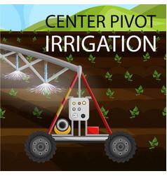 Flat banner is written center pivot irrigation vector