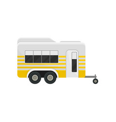 flat icon of classic camper trailer with vector image