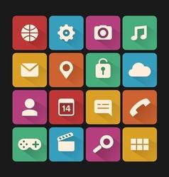 flat icons set vector image
