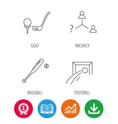 Football golf and baseball icons vector