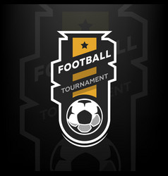 football tournament logo vector image