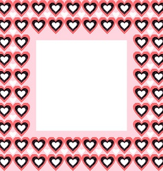 Frame from Hearts and Place for Your Text vector image