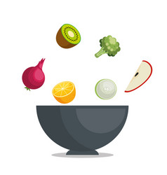 Fruits and vegetables healthy food vector