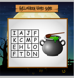 Game helloween find the word of pot vector