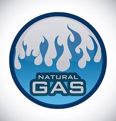 gas natural design vector image