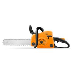 gasoline chainsaw vector image