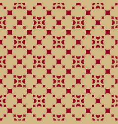 gold and red geometric seamless pattern with vector image