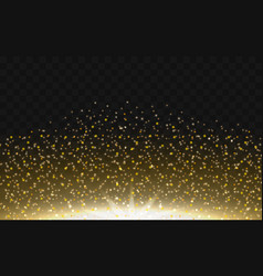 gold dust a glowing sparkling particle powder vector image