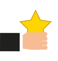Golden star award icon vector
