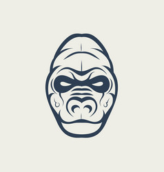 gorilla logo design icon vector image