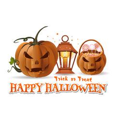 Halloween paper art with halloween design elements vector