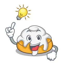 Have an idea cinnamon roll mascot cartoon vector