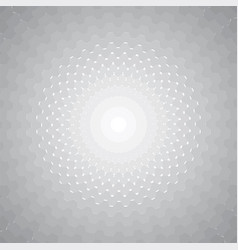 hexagon halftone vector image