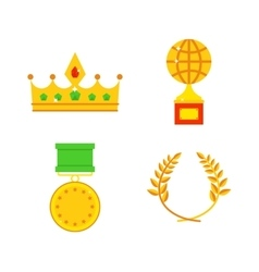 Honors icons vector