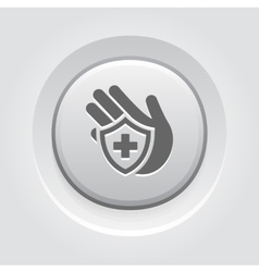 Insurance Icon Grey Button Design vector