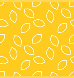 lemon pattern print yellow pattern vector image