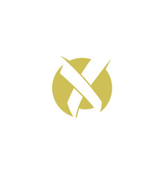 letter x logo vector image