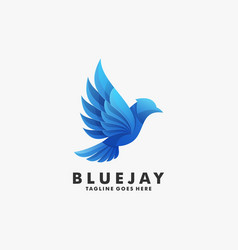 logo bluejay gradient colorful style vector image