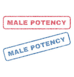 Male potency textile stamps vector