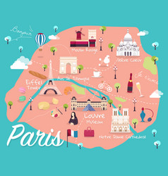 map of paris vector image