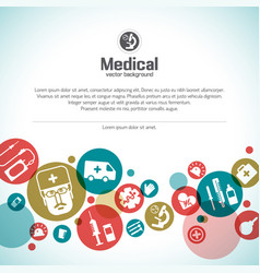 medical treatment background vector image