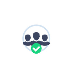 Membership icon on white vector