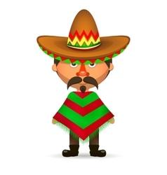 Mexican in a sombrero vector image