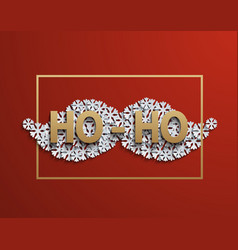 modern mustache santa icon on red vector image