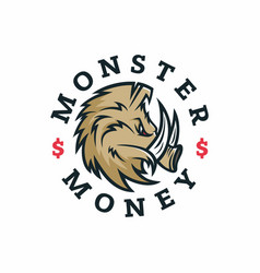 modern professional logo emblem monster vector image