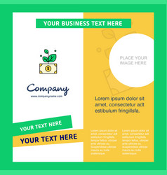 money plant company brochure template busienss vector image
