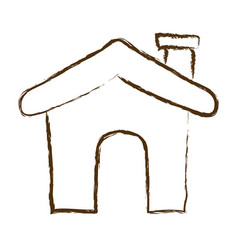 Monochrome hand drawn silhouette of house icon vector