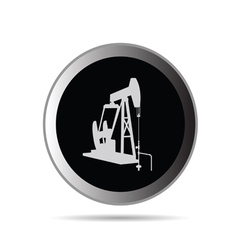 oil pump in circle symbol vector image