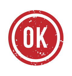 ok rubber stamp isolated vector image