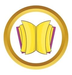 Open thick book icon vector