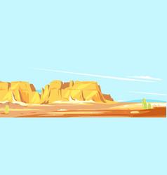 Panorama desert canyon vector