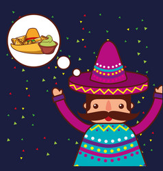 people mexican food vector image