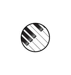 Piano keyboard logo vector