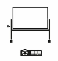 Portable Projector Screen Icon vector