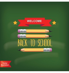 Poster Back to schoolTypography vector image