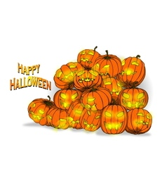 Pumpkin back ground vector