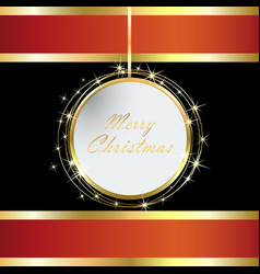 red and black christmas card vector image