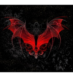 Red dragon wings vector image