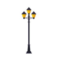 retro streetlights lamppost urban infrastructure vector image