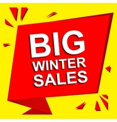Sale poster with BIG WINTER SALE text Advertising vector