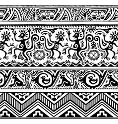 Seamless pattern of African primitive art vector image