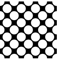 Seamless polka dot pattern white dots on black vector