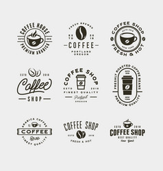 set modern vintage coffee shop labels vector image