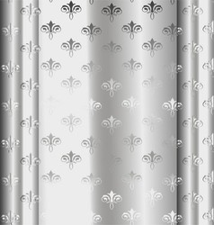 Silver Luxury Vintage Wallpaper vector image