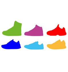 sneaker shoe minimalistic flat line outline stroke vector image