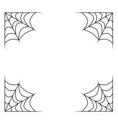 Spiderweb frame border divider isolated on white vector